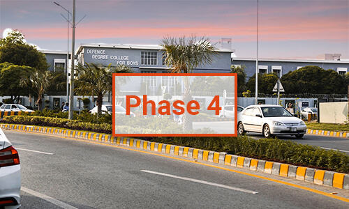 DHA Lahore Phase 4 Map